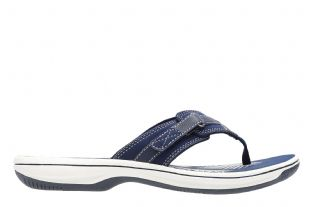 Clarks Womens Brinkley Sea Navy Synthetic Sandals